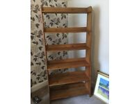Antique effect wooden shelving unit - very good condition