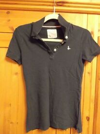 Jack Wills fitted polo shirt in blue size 8