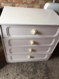 DAMAGED Small chest of drawers. Ideal project