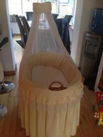 Extra large cream Moses basket