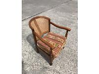 Antique short wicker tub chairs
