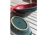 DENBY - 4 x Oven to Tableware Oval Dishes