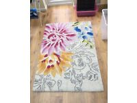 PRICE REDUCTION 100% wool rug from M&S beautiful floral pattern
