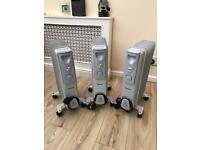 3 Oil Fillled Radiators - Electric Heaters