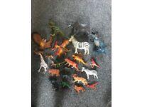 Plastic dinosaur &animal figures