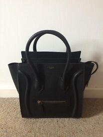 Black Celine Micro Luggage Tote Bag