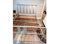 Metal bed frame. (Frame only)