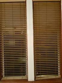 PAIR OF WOODEN BLINDS