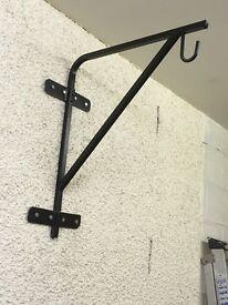 Punch bag bracket with hook for hanging punch bag