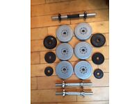 York fitness weights and hand lifting bars - very good condition