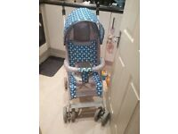 Baby pushchair, Baby bouncer and Baby high chair for sale