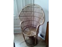 70s straw chair for sale