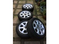 Mercedes Alloys with Winter Tyres
