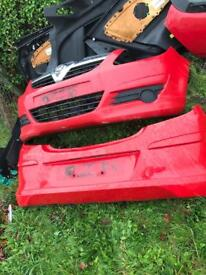 Corsa d vxr line bumpers and boot