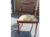 mahogany regency style bedroom hallway chair