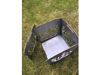 Elegant & Foldable Black Steel Fire Basket -- Brand New -- 35x35cm
