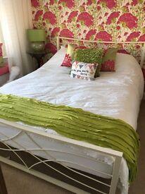 Beautiful cream wrought iron Kingsize Bed
