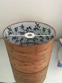 TWO Bamboo Style Lampshades