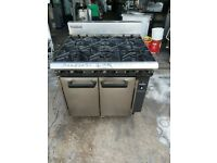 Blue seal 6 for catering burner NAT GAS cooker commercial six burner oven heavy duty used