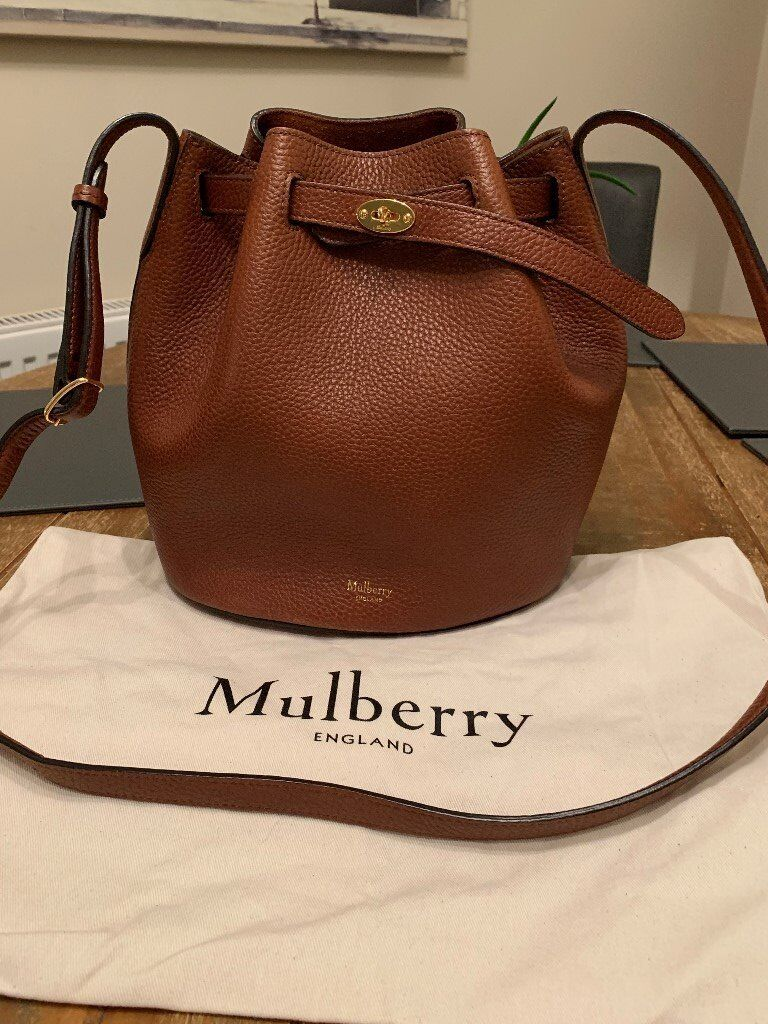 Mulberry (Original) Abbey Bucket Bag in Oak Natural Grain Leather ... 4b79c3cb9a3c9