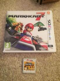 Mario kart and super mario Bros 3ds games