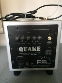REL Acoustics QUAKE SUB BASS SPEAKER SUSTEM