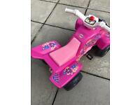 FALK GIRLS PEDAL POWERED RIDE ON QUAD BIKE PINK