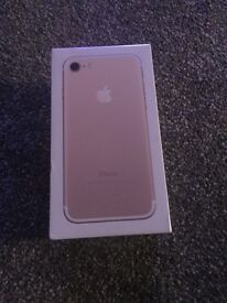 Brand new iPhone 7 gold