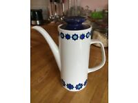 J & G Meakin Studio pottery - vintage coffee pot