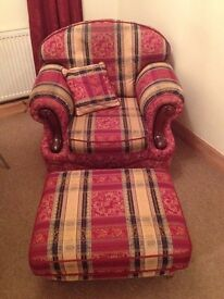 3 PICE SUITE and FOOTSTOOL - REDUCED PRICE £100