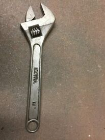Extra large, wide jaw, heavy duty shifting spanner