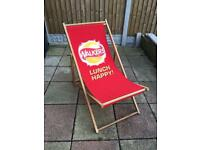Walkers branded deck chair