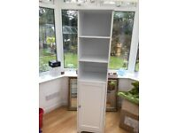 White bathroom tall boy cabinet for sale.