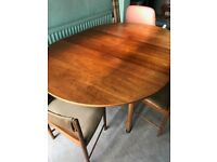 Retro Dining Table and Chairs with matching sideboard