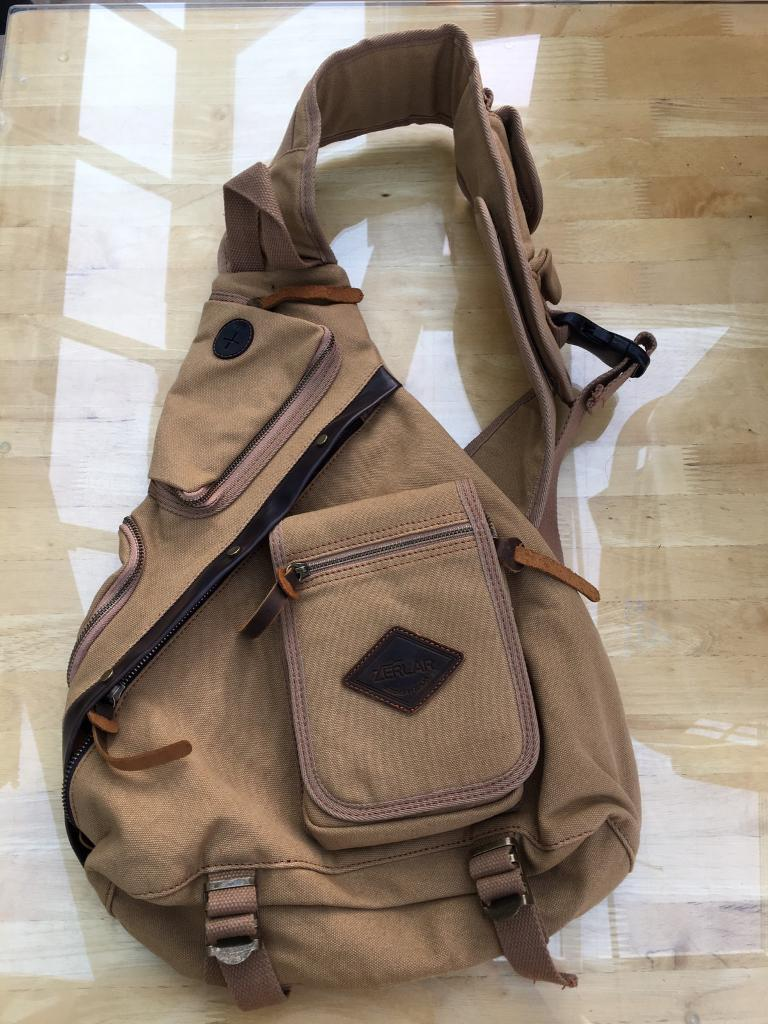 4c2fded1545a Zerlar men's chest pack crossbody bag vintage canvas shoulder sling bag new  without tags