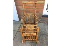 Unusual Bamboo Highchair on wheels **great home or shop display piece*
