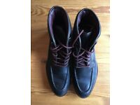 Ted Baker Hickut Men's black leather boots size UK11
