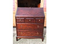 Stag Minstrel Bureau Mahogany Writing Desk With Drawers - Delivery Available