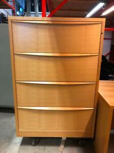4 Drawer Laminate Lateral Filing Cabinet - $175