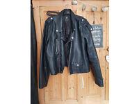 Primark size 20 black faux leather jacket