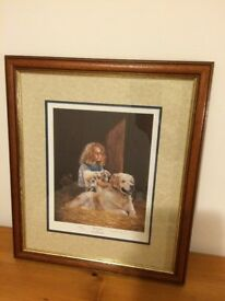 Puppy Love Framed Picture