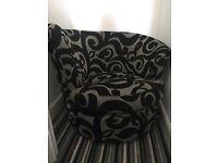 Swivel chair Black/Silver