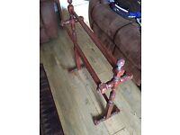 Victorian solid pine wood towel rail