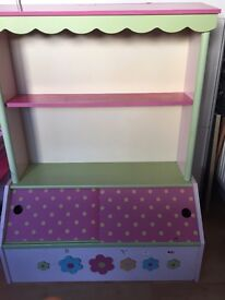 Childs bookcase Beautiful character bookcase from verbaudet lovely condition