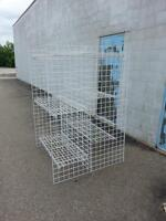 RECYCLED DISPLAYS WIRE GONDOLA SHELVING CHAIRS USED