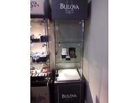 Bulova Glass Cabinet