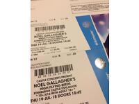 Noel Gallagher tickets x 2