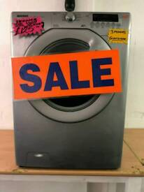 HOOVER SILVER 7KG LOAD 1400 SPIN DIGITAL WASHING MACHINE