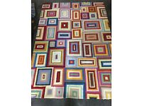 Multi coloured wool rug from Habitat