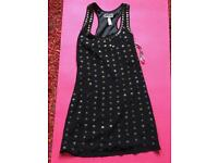 Black lipsy dress with studs